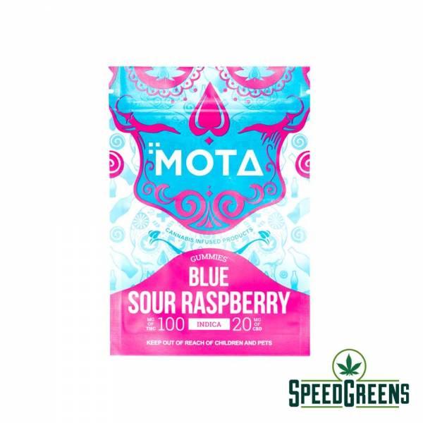 Mota Blue Sour Raspberry Soda Bottle 2