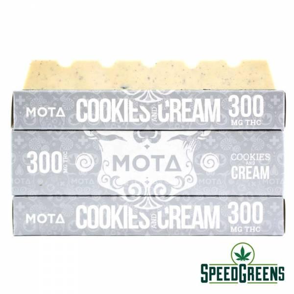 Mota Cookies and Cream Chocolate Bar THC 2